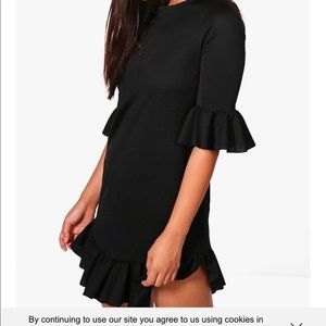Dresses & Skirts - Black ruffle dress
